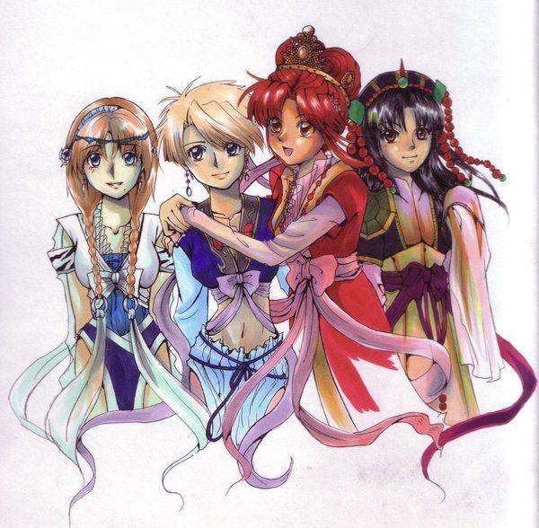 Fushigi Yugi Priestesses By Crushedrainbows On Deviantart Fushigi Yugi Manga Illustration Anime Love