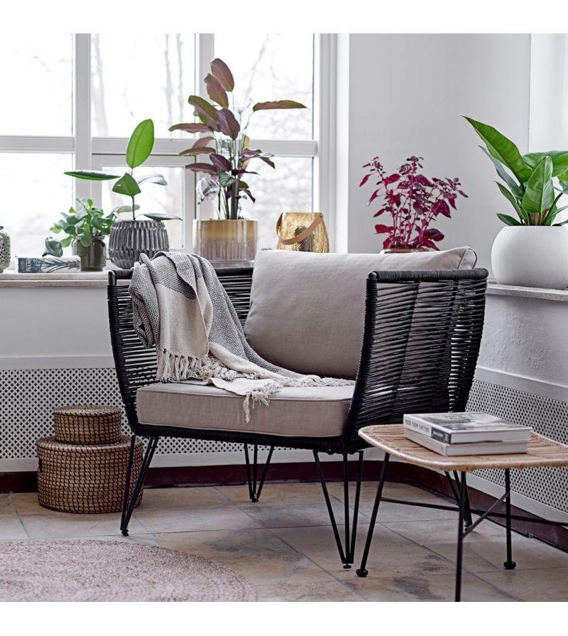 Chaise Exterieur En Rotin Mundo De La Marque Bloomingville Fauteuil Lounge Mobilier De Salon Fauteuil Exterieur