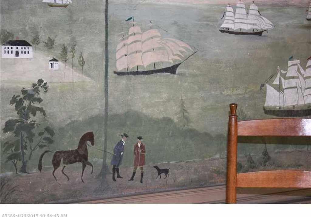 Waldoboro, Mural stencil, Maine real
