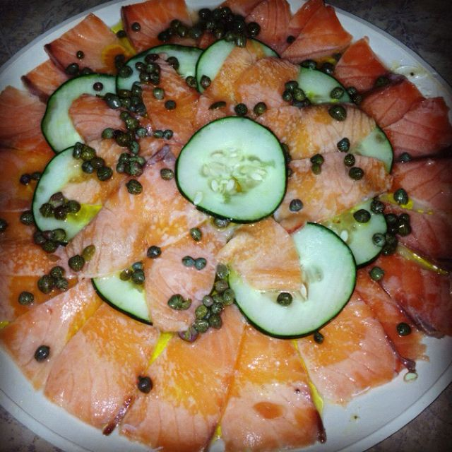 #Carpaccio de #salmón #homemade