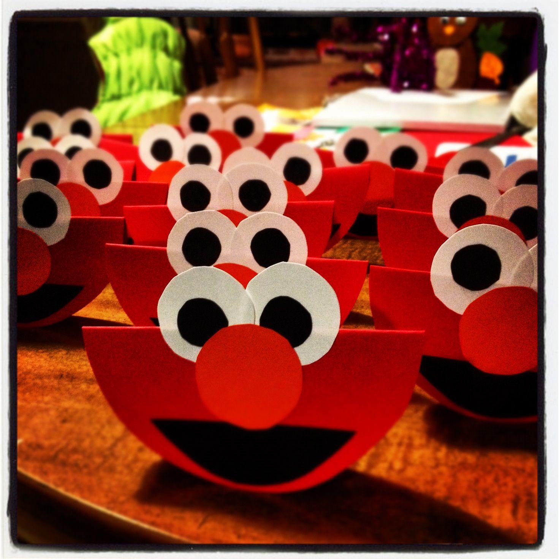 Handmade Elmo Invites Diy Birthday Invitations Baby Girl