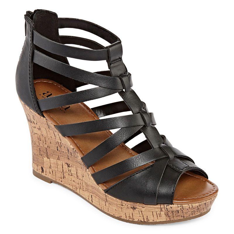 f942a6c2a19b a.n.a Maxwell Womens Wedge Sandals