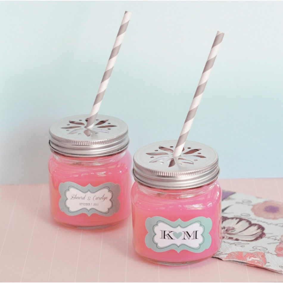 Personalized Drinking Mason Jars with Decorative Lids [EB2311P ...