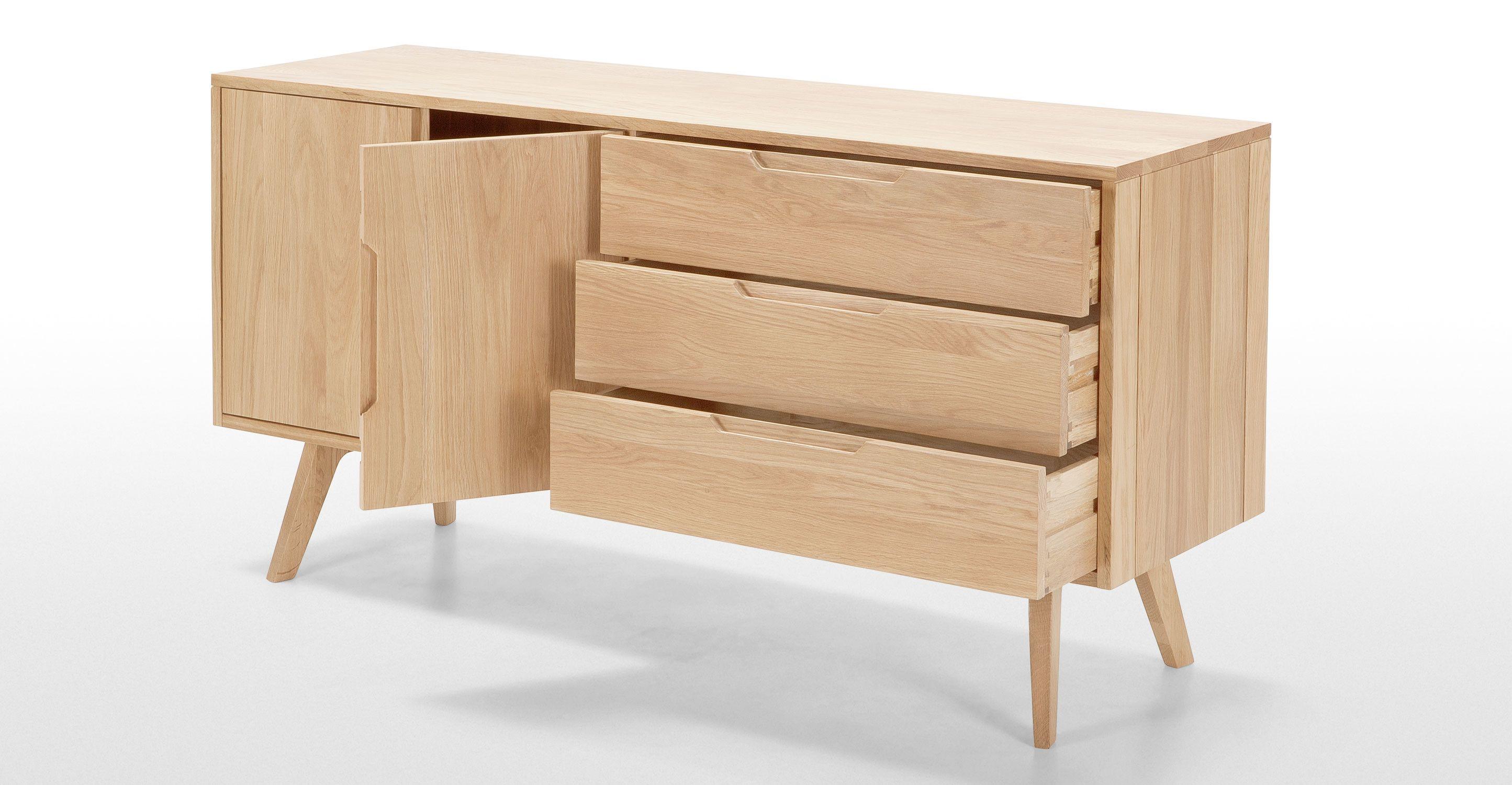 Jenson Sideboard Solid Oak Made Com Dining Room Pinterest  # Meuble Tv Bois But