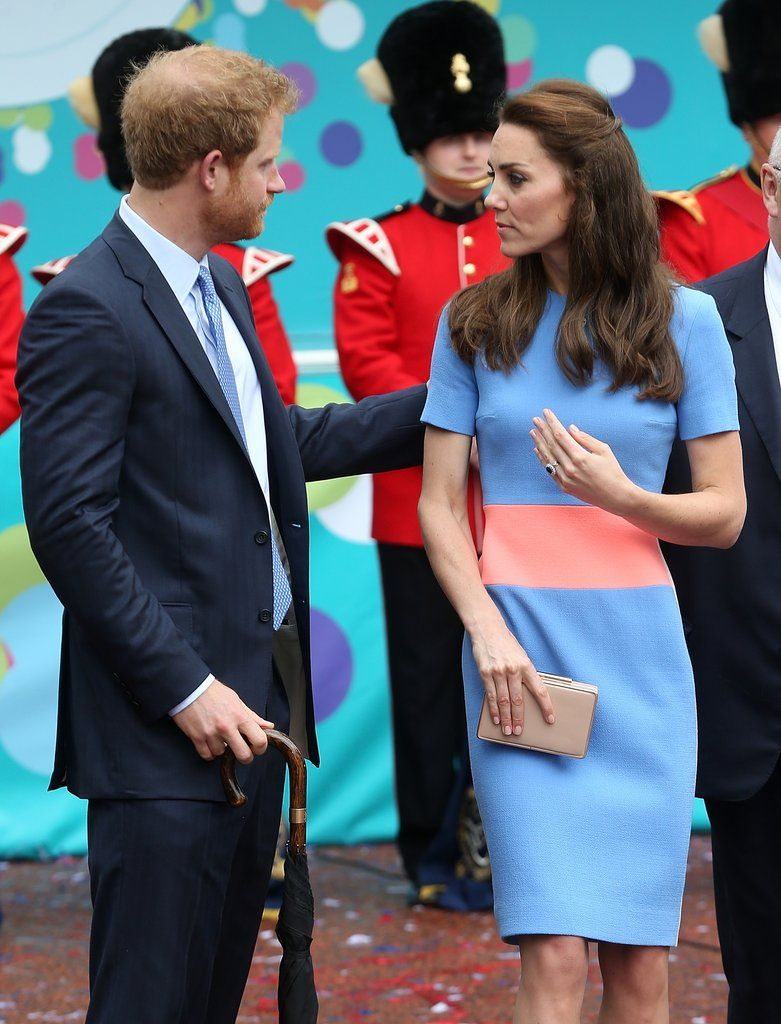 Prince Harry and the Duchess of Cambridge at the Queen's 90th Birthday Picnic Lunch