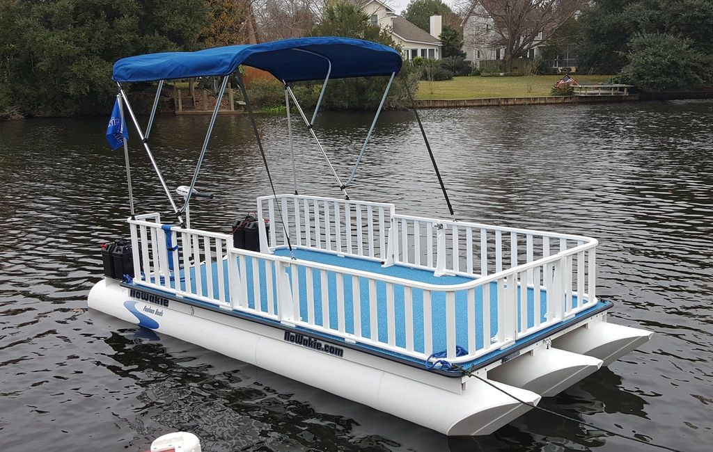 No wake boats made from polypropylene. NoWakie Pontoon Boats. Hand built plastic pontoon boats ...