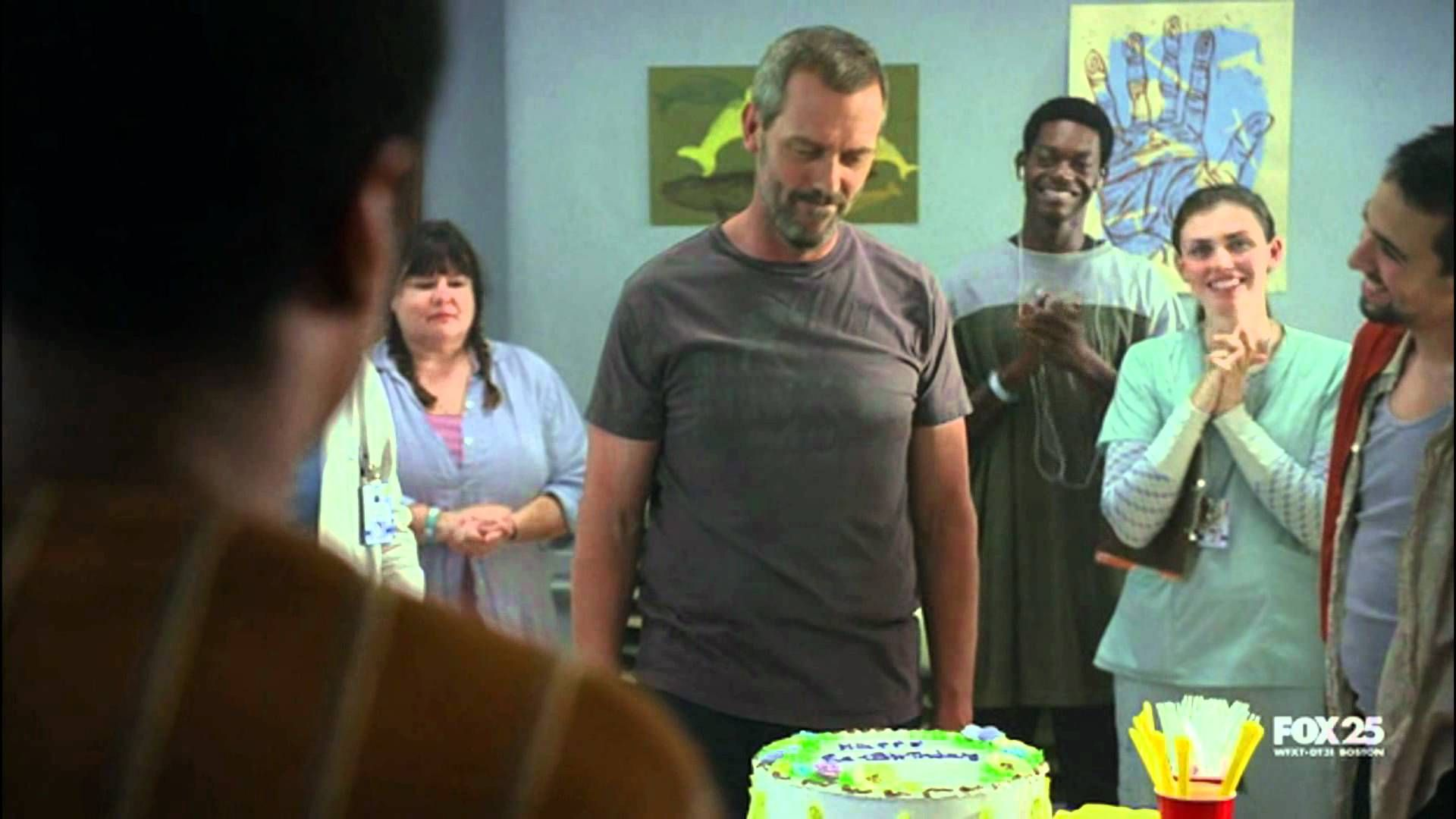 Tv series best scene ever house md face on the cake via youtube also rh pinterest