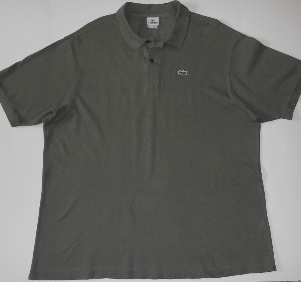 lacoste polo shirt mens olive
