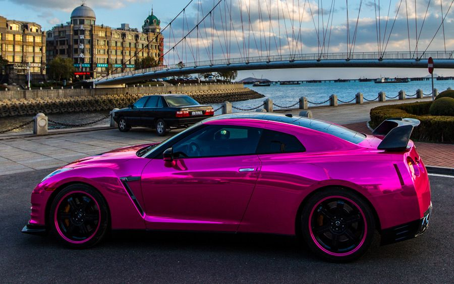 Pretty In Pink Nissan GTR! Click To See More GTR Photos!