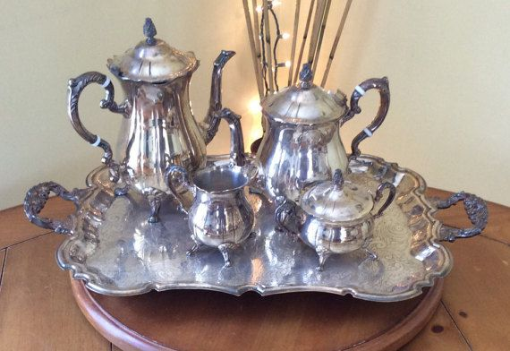 Leonard silver plated tea/coffee serving by ThroughPlacesandTime & Leonard silver plated tea/coffee serving set | Teas Tea pots and Trays