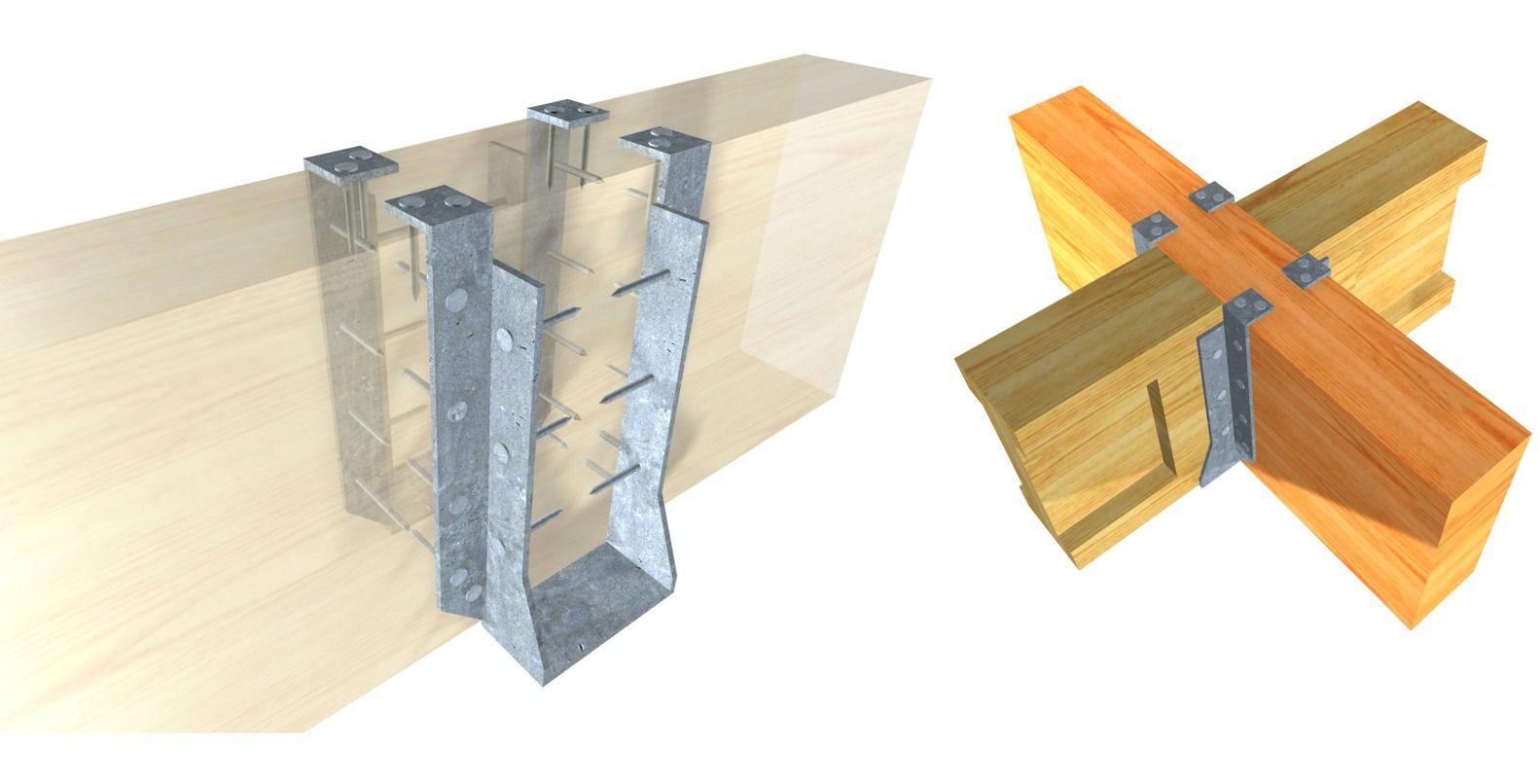Galer a de 15 herrajes met licos para conectar estructuras - Estructura madera laminada ...