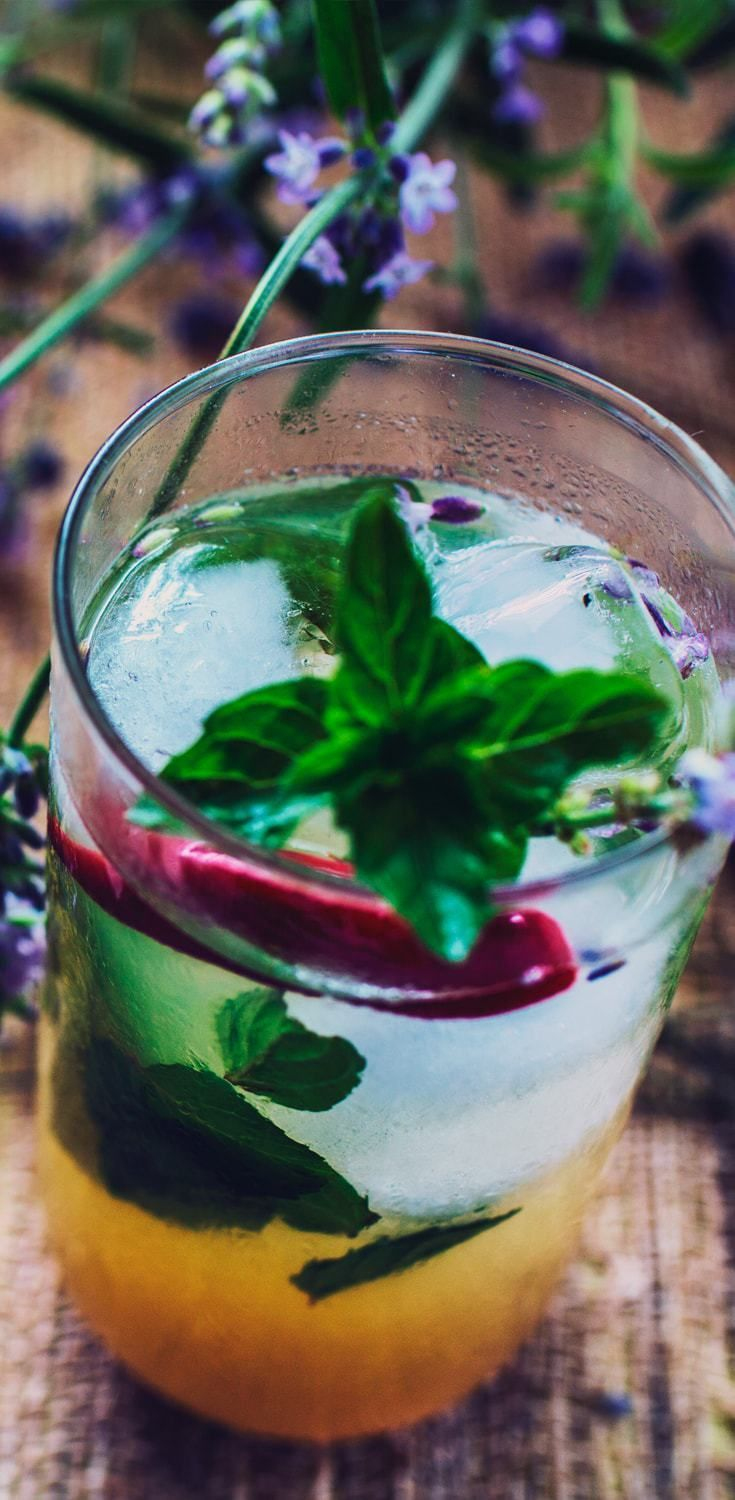 Mojito, a refreshingly perfect cocktail with mint, simple