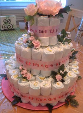 baby girl shower decoracion pastel nia