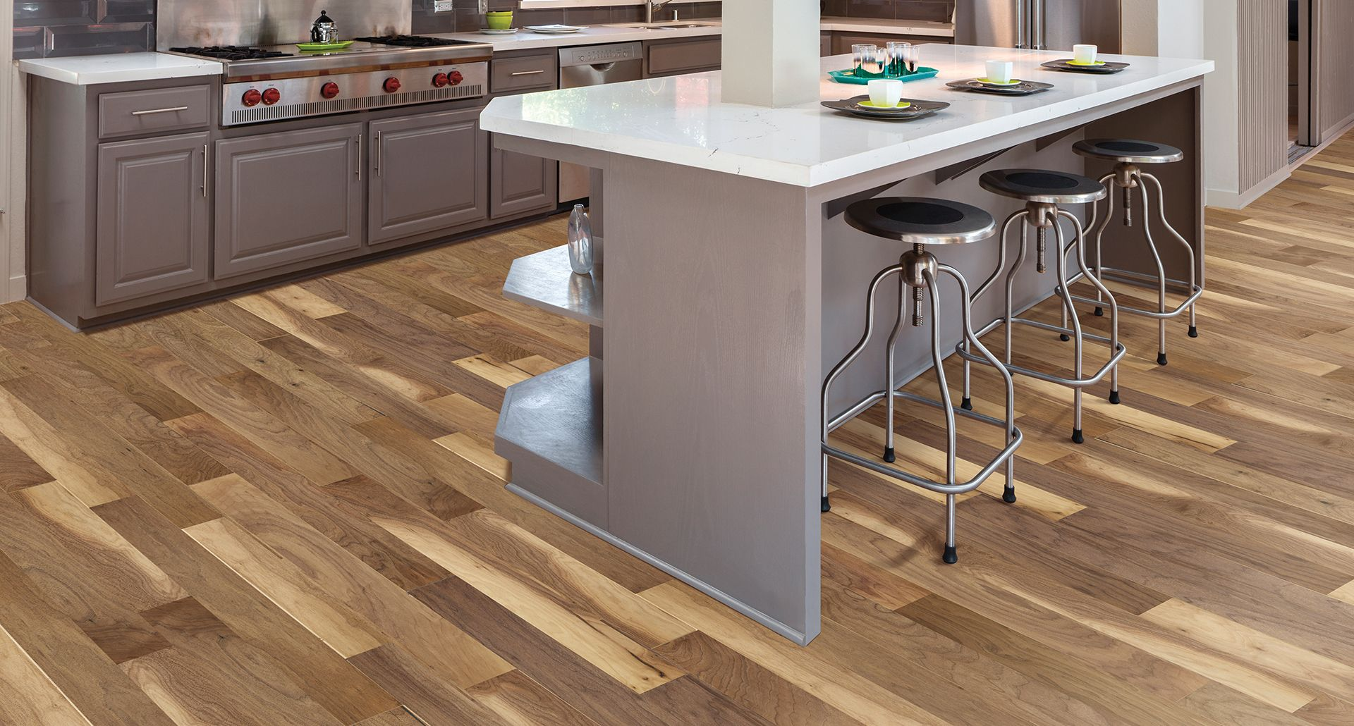 This Briarcliff Walnut Pergo Max Floor Is Easy To Clean With Its Stain Resistance