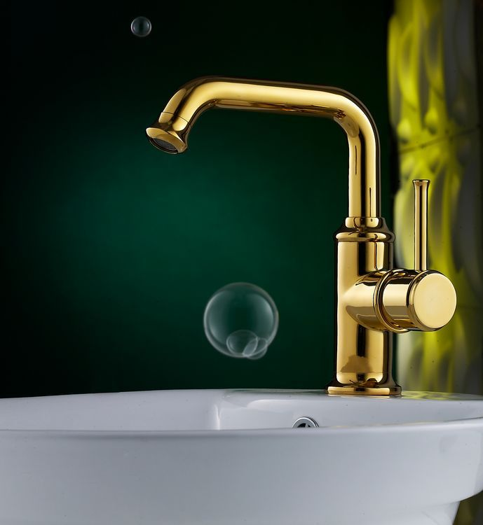 Luxury Polished Brass Bathroom Faucet With Single Handle DL-4819H ...