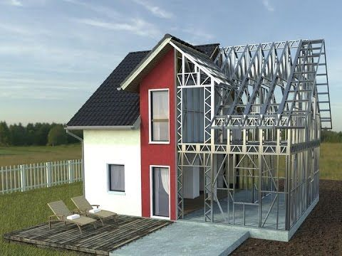 How To Build A Steel Framed House Www Rotarex Ro Steel Frame House Steel House Metal Buildings