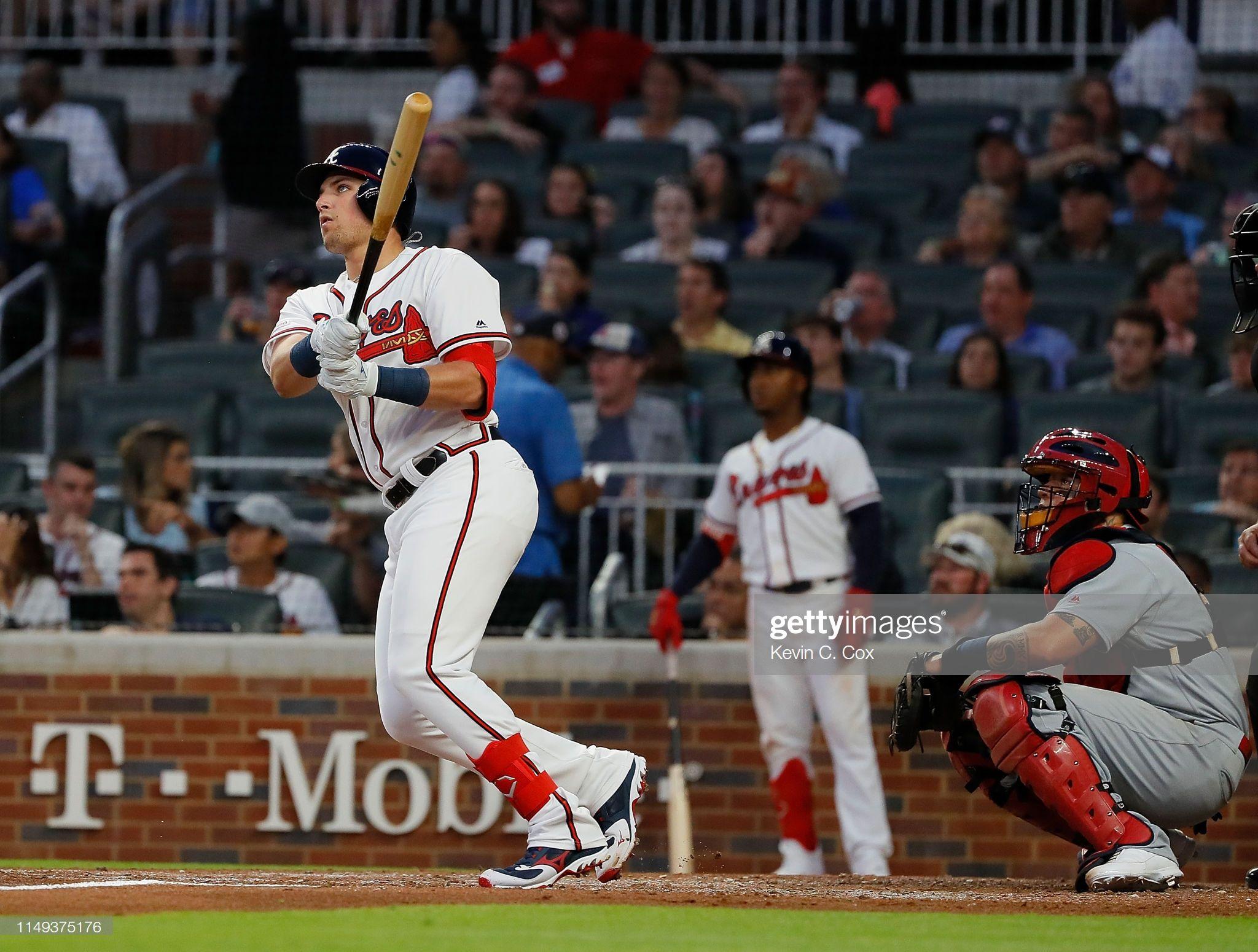 Austin Riley Of The Atlanta Braves Hits His First Major League Home Atlanta Braves Atlanta Major League
