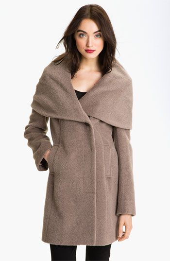Elie Tahari Shawl Collar Wrap Coat available at #Nordstrom
