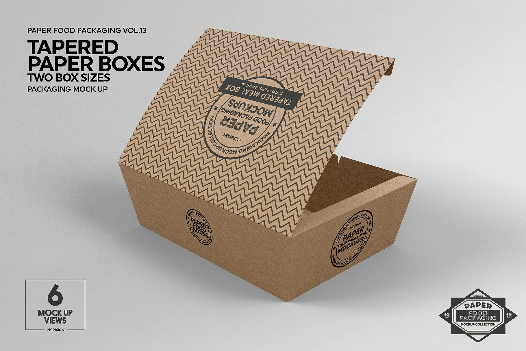 Download Paper Tapered Takeout Boxes Mockup Ide