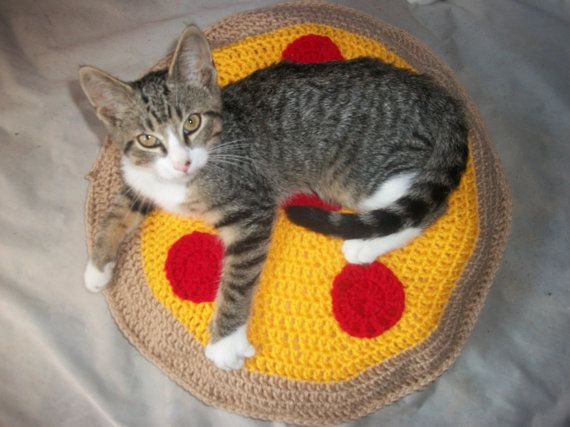 Pizza Cat Bed, Cat Bed, Cat Beds, Round Cat Bed, Cat Furniture Images