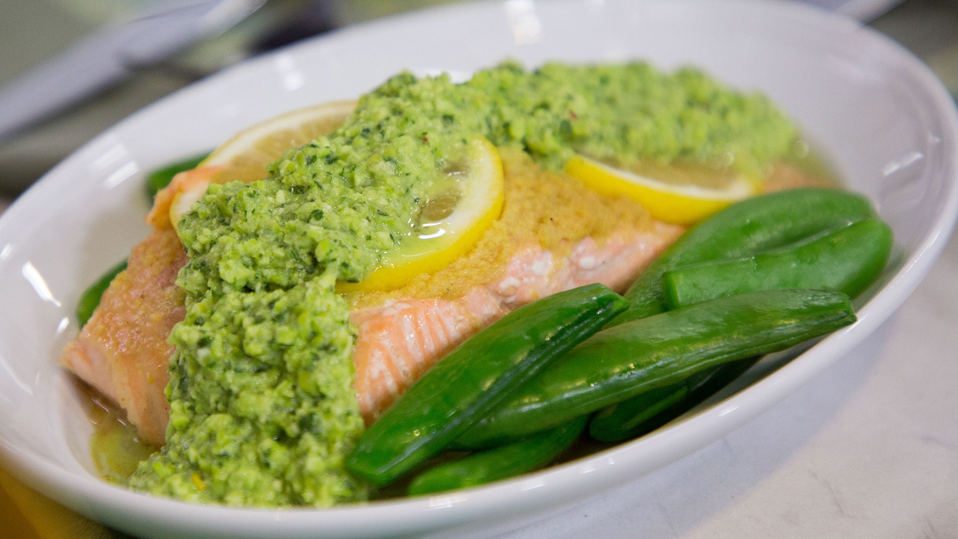 Grilled FoilPacket Salmon with Snap Peas and Edamame