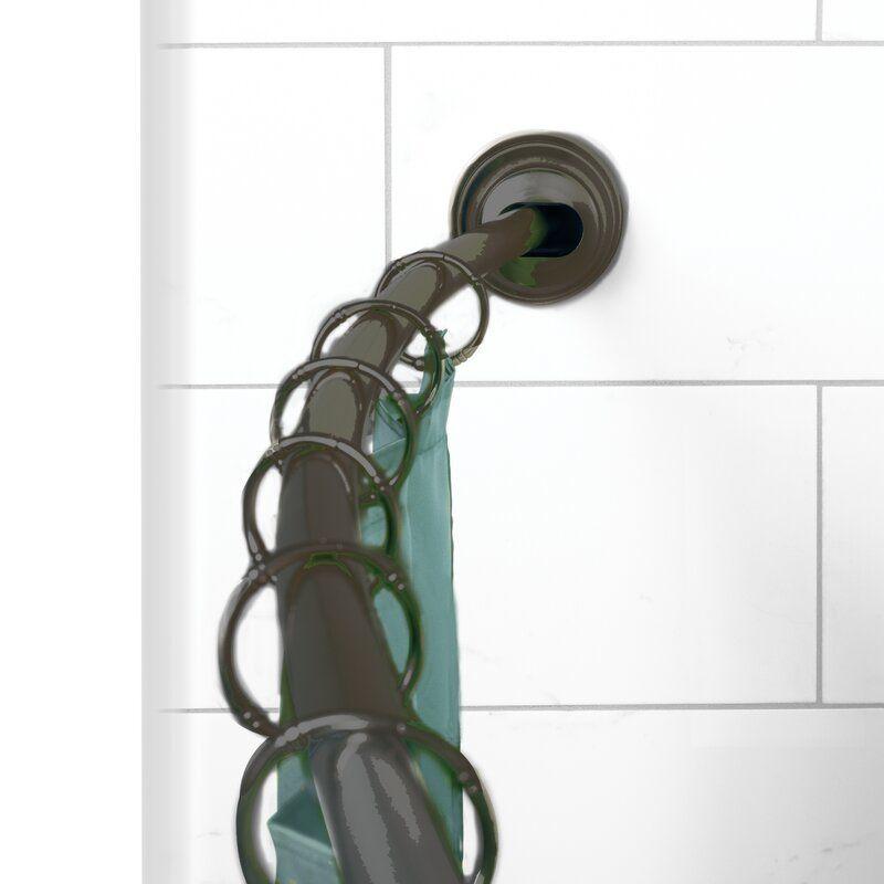 Neverrust 72 Adjustable Curved Tension Shower Curtain Rod In 2020 Curtain Rods Shower Curtain Rods Shower Rod