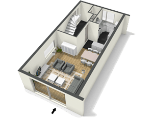 Floor Plan 3d Render Create Floor Plan Floor Planner Room Layout Planner