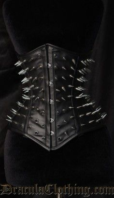 Hedgehog Faux Leather Corset.... i need this... but honestly it cant be hard to make.