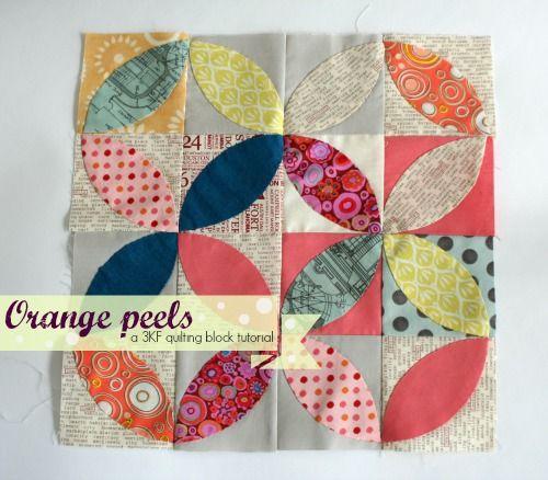 Orange Peel Tea Leaves Tutorial Quilt Patterns Quilts Quilt Block Tutorial