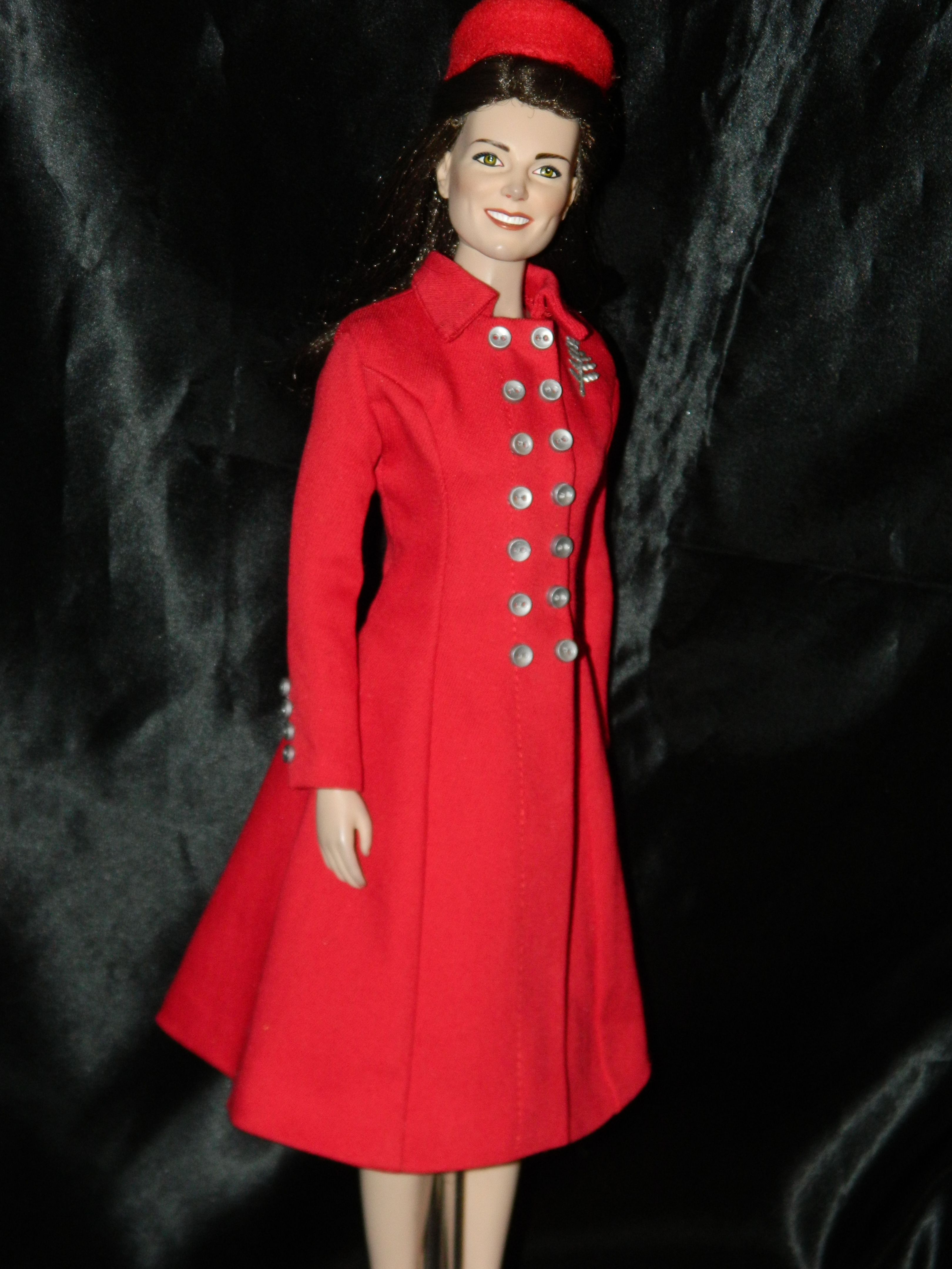 Kate doll Red coat and hat Fashion, Doll dress