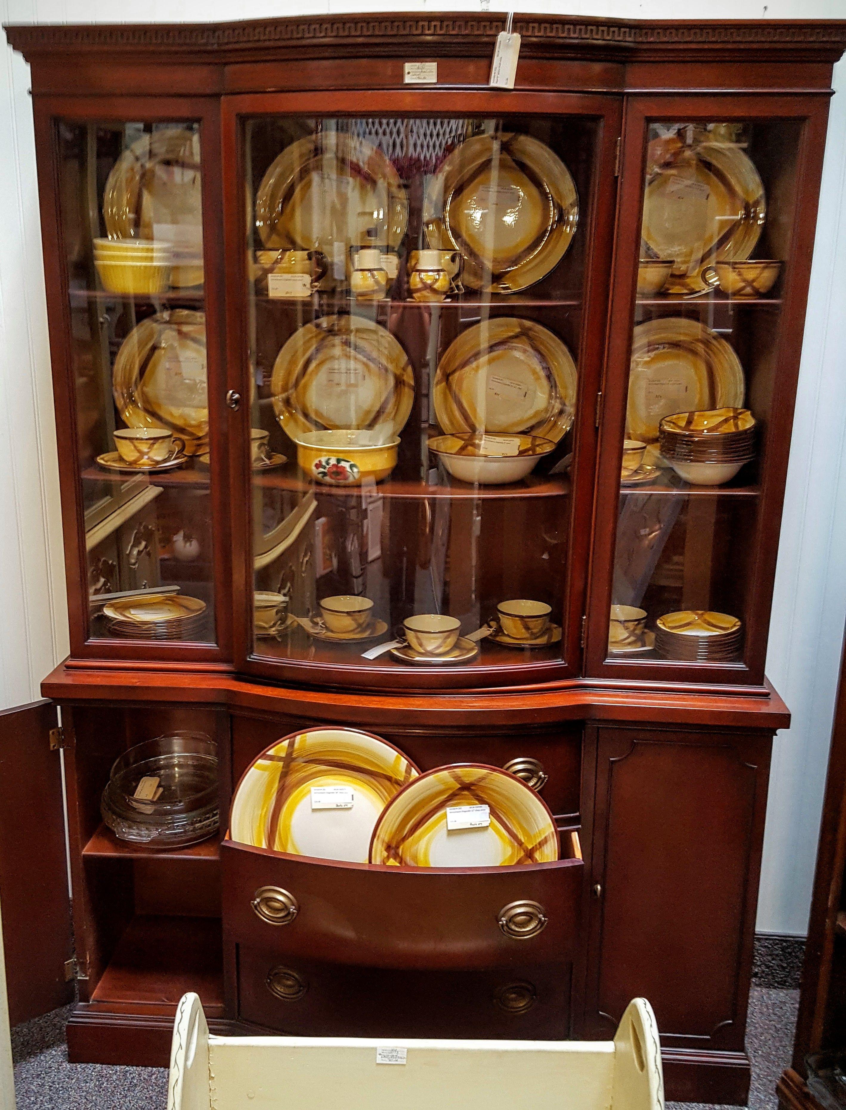 Drexel mahogany china cabinet for Sale in Avondale, AZ ...