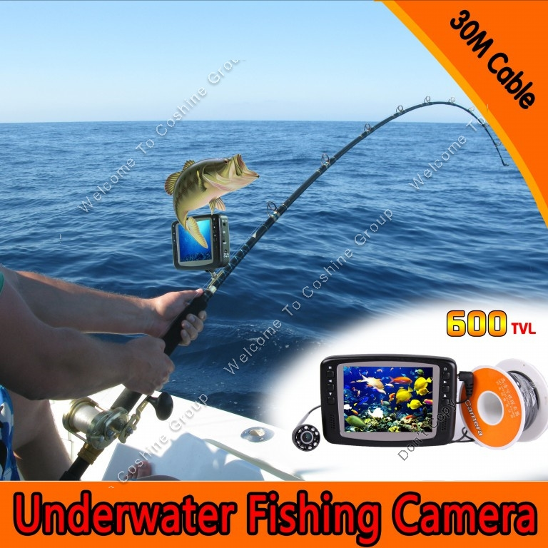 """119.99$  Watch here - http://alikqi.worldwells.pw/go.php?t=32409003074 - """"Free Shipping 3.5"""""""" LCD 30M Underwater Camera ICE/SEA FISHING Fish Finder Easy install on Rod"""" 119.99$"""