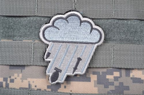 "AMS - ""Hard Rain"" Patch (GRAY/ ACU) -- Bring the rain and bring the pain."