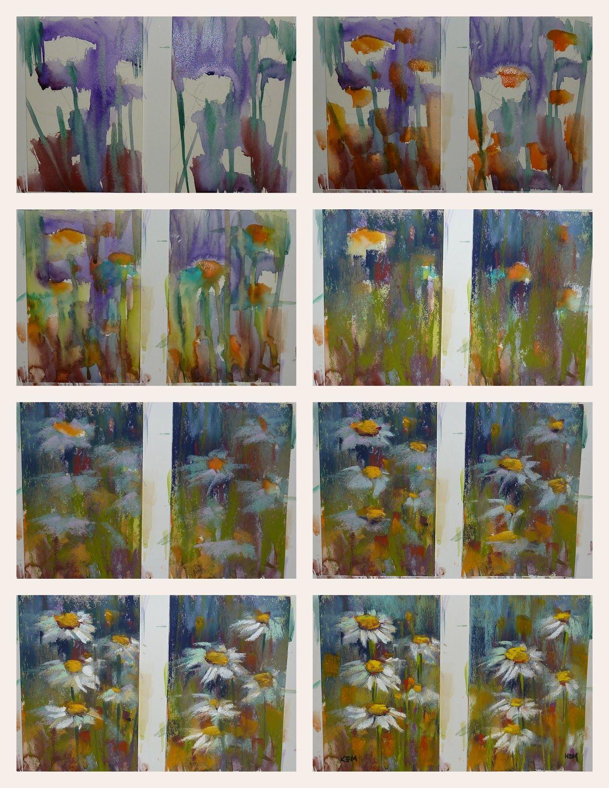 'Garden Delight I' 4x6 pastel sold     'Garden Delight II' 4x6 pastel   $40   It's Demo Monday! Today I dec...