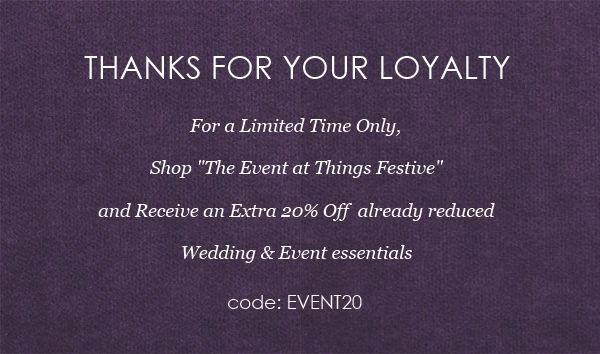 Deep Discount on Wedding Centerpieces, Place Card Holders, Favors & More: Our Way of Saying Thanks  #discountweddingfavors #discountweddingcenterpieces #discountweddingdecorations