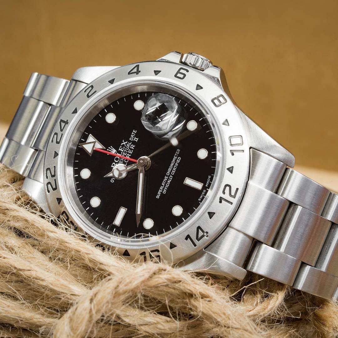 Rolex Explorer Ii 16570 40mm Stainless Steel Watch Black Dial Rolex Explorer Ii Rolex Explorer Rolex