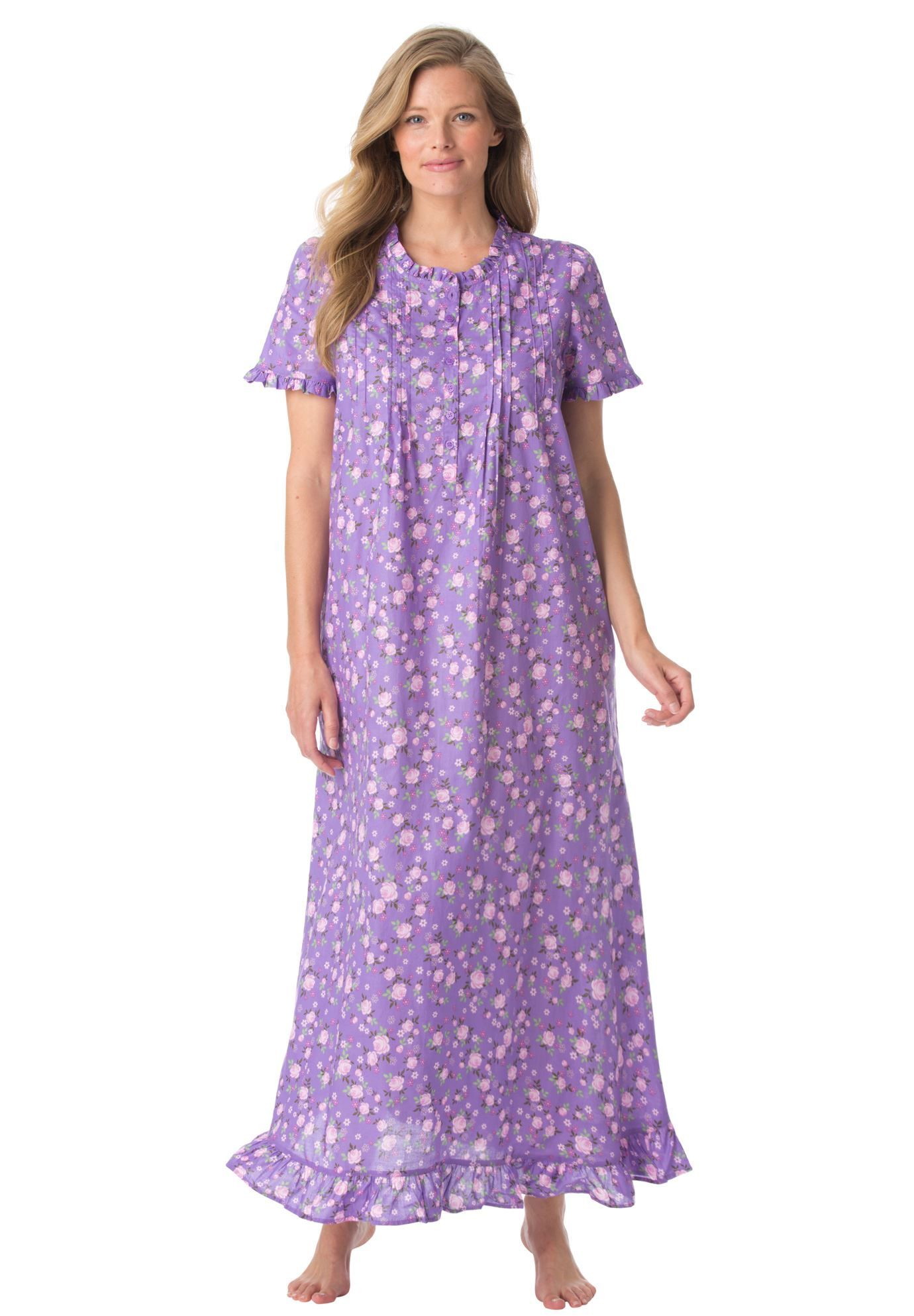 7e0241bee Plus Size Ruffled long nightgown Plus Size Sleepwear