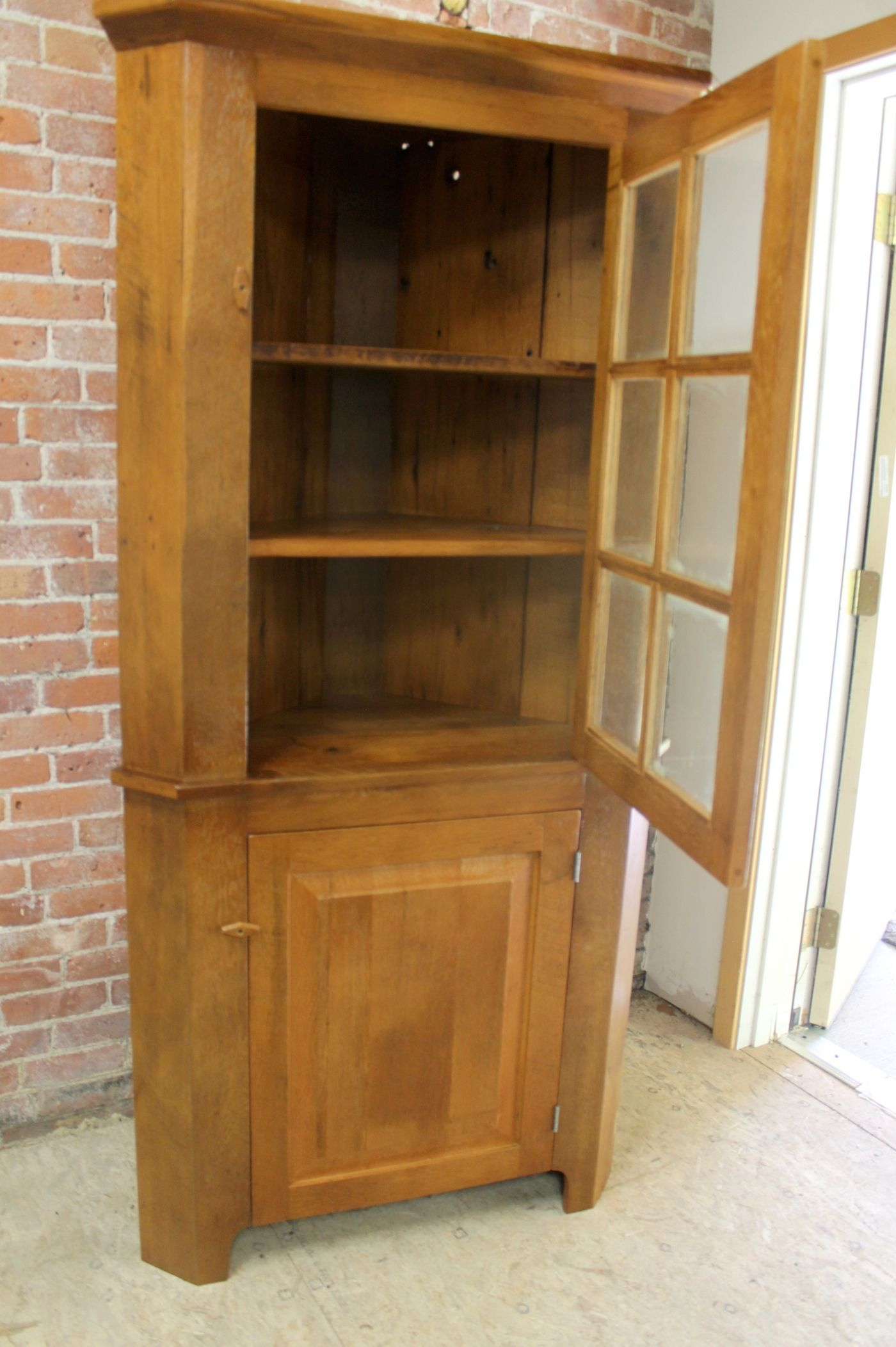 Corner Cabinet Made From Reclaimed Pine Hand Crafted By The