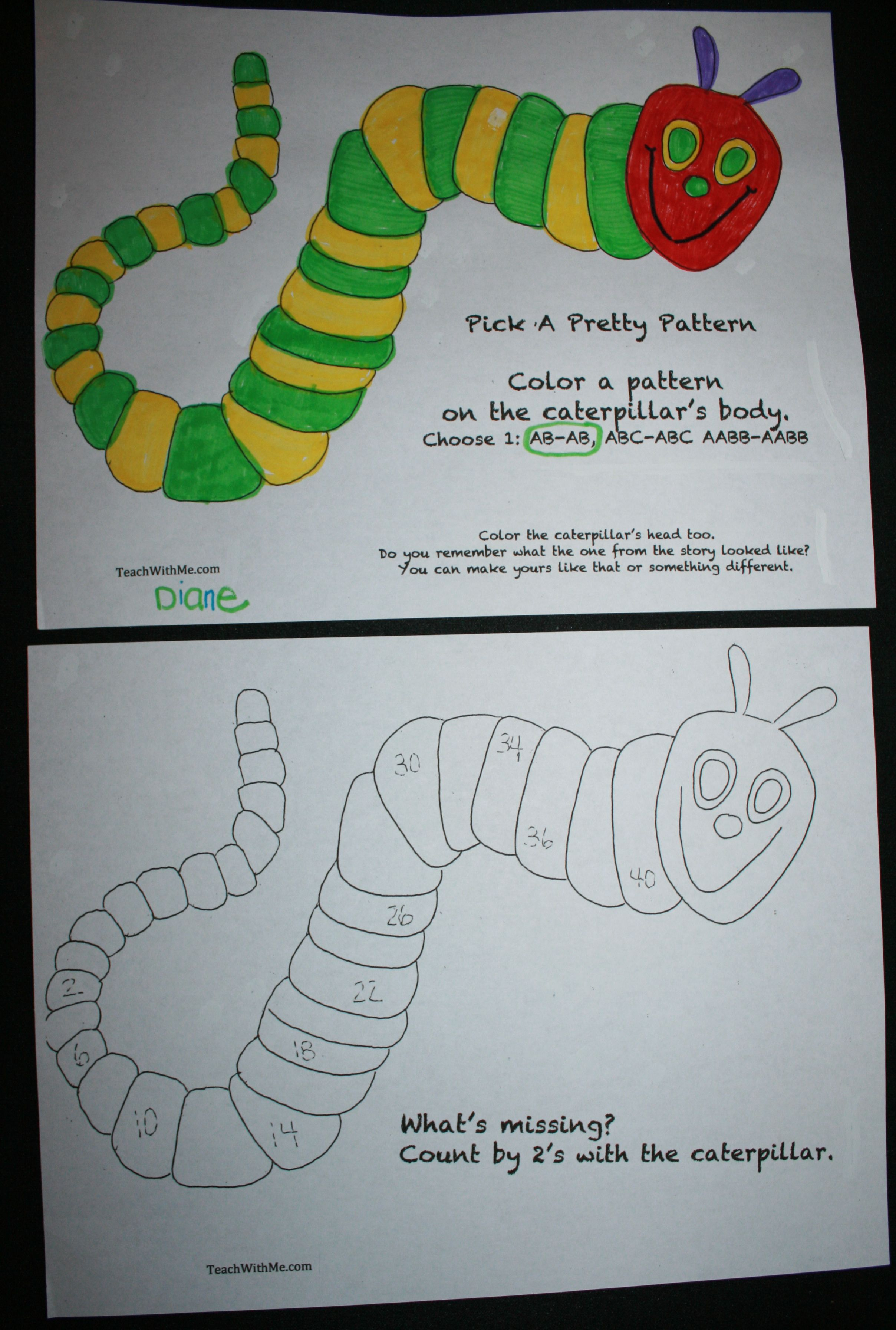Free 50 Page Caterpillar Packet Includes This Make A