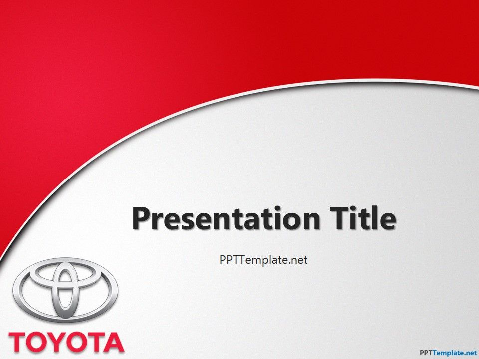 FreeToyotaWithLogoPptTemplate  Stuff To Buy