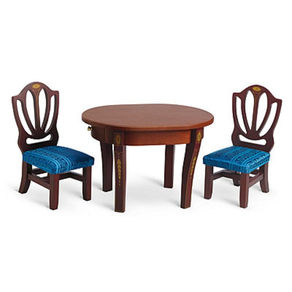 american girl caroline s table chairs for 18 doll wood furniture rh pinterest com