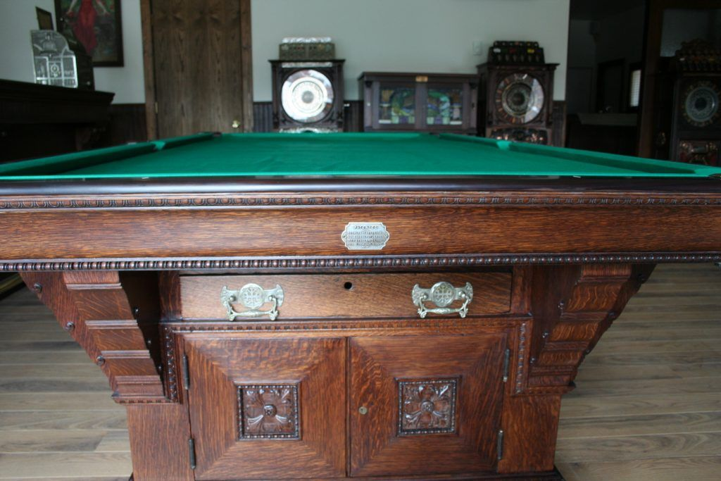 1895 brunswick cabinet 1 marschak s antique pool tables in 2019 rh pinterest com