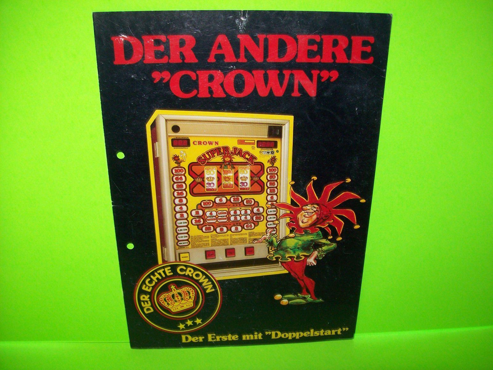 bergmann automaten crown super jack original slot machine sale flyer rh pinterest ca