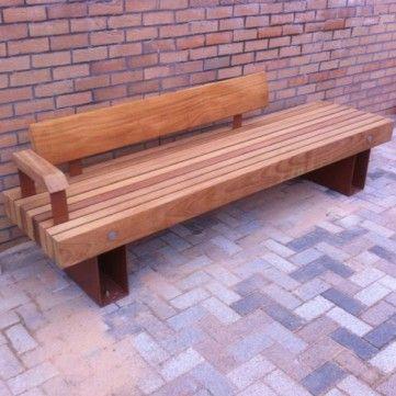 Amazing Hyde Seat Manufactured From Treated Iroko Hardwood Timber Ibusinesslaw Wood Chair Design Ideas Ibusinesslaworg
