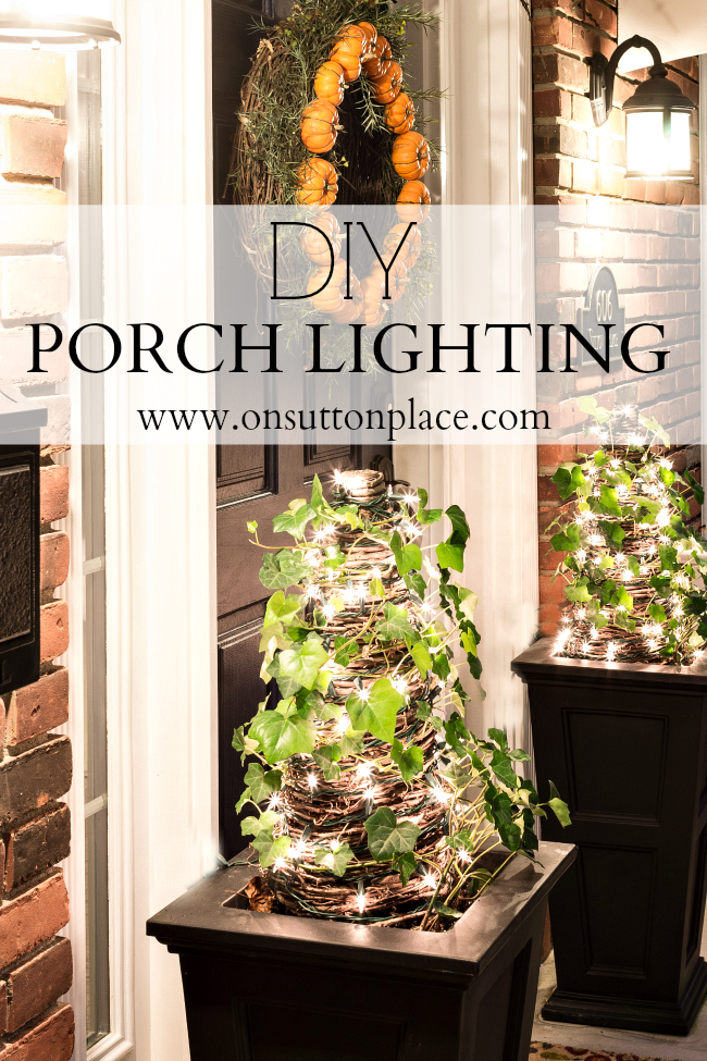 Easy DIY Porch Lighting ideas that anyone