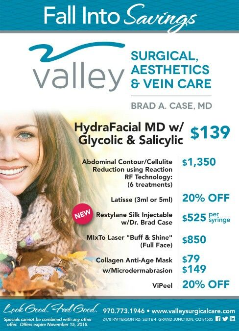 Valley Surgical Care Aesthetics Dr Brad Case Vein Care Care Restylane Silk