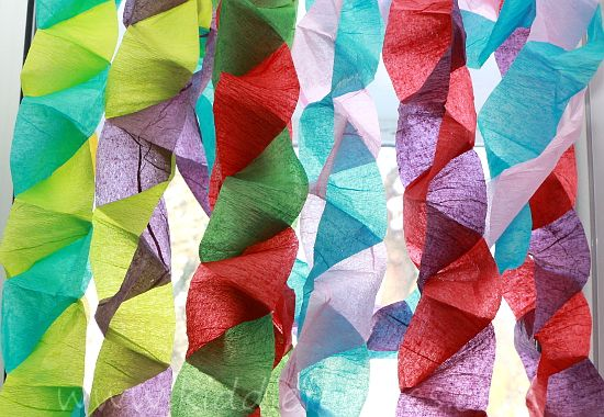 Christmas crafts for kids - crepe paper Christmas tree ...