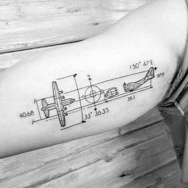 30 Engineering Tattoo Designs für Männer – mechanische Tinte Ideen