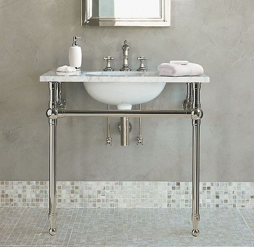 console sink with metal legs foter bathrooms console sink rh pinterest com