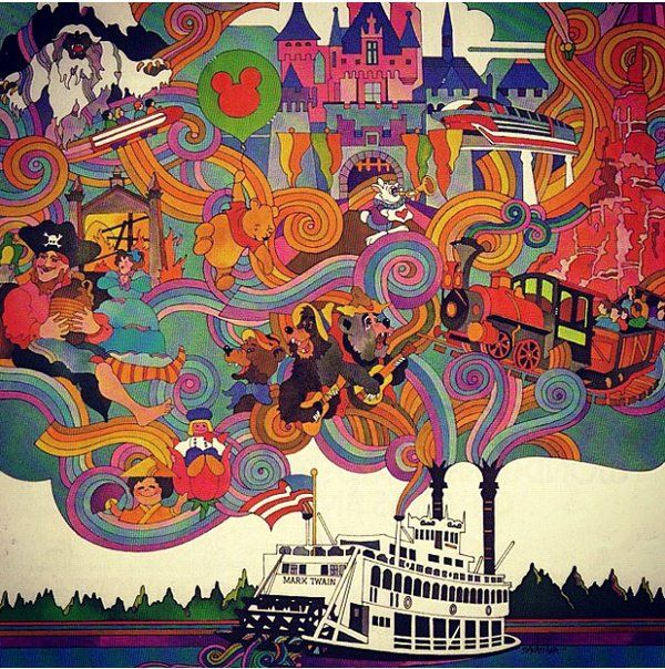 Peter Max art for. Disneyland?